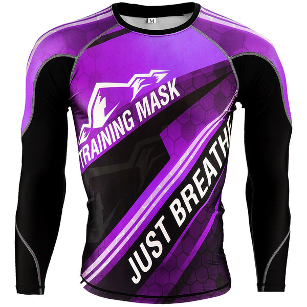Training Mask Just Breathe ® Purple Long Sleeve Compression Shirt
