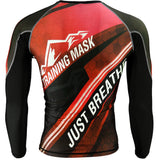 Training Mask Just Breathe ® Red Long Sleeve Compression Shirt