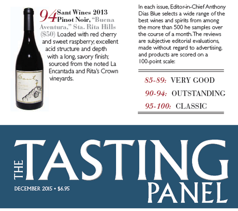 94 Points from The Tasting Panel Magazine - 2013 Buena Aventura Pinot Noir