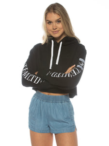 TEAMLTD LADIES PALM CROP HOODIE