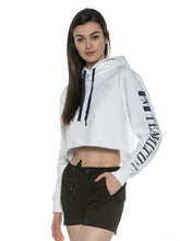 Load image into Gallery viewer, TEAMLTD LADIES PALM CROP HOODIE