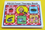 PECS Food Therapy Book - Interactive Communication Book - ABA - 60 symbols - Autism Visual Aid for Children - Interactive