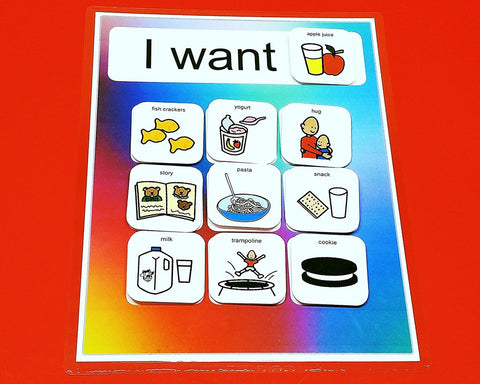 Request Choice Board Autism with 20 PECS - Frequently Requested Items