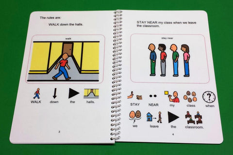 Follow The Rules At School Autism Social Skills Story Pecs
