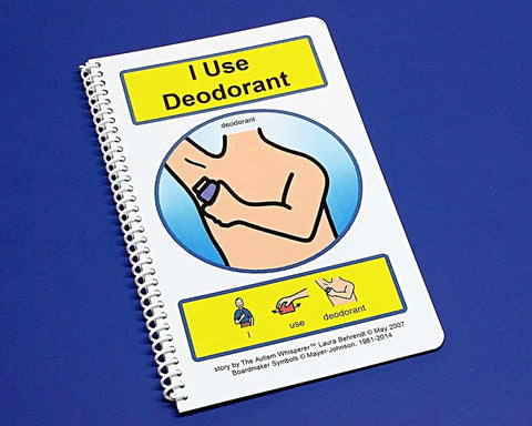 I Use Deodorant - Autism Social Skills Story - PECS - self grooming- Visual and Social Therapy Book