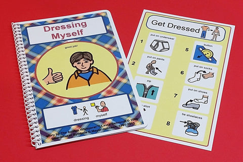 Dressing Myself Boy - PECS Book and Schedule Board Autism