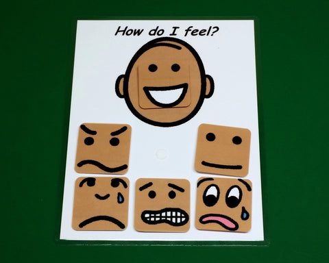 How Do I Feel Interactive Emotions Board Autism PECS