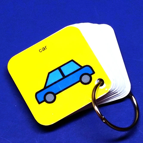 EZ Travel PECS Keyring - Car - Transitional Keyring for Autism and ASD