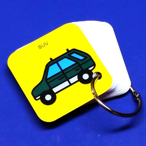 EZ Travel PECS Keyring - SUV - Transitional Keyring for Autism and ASD