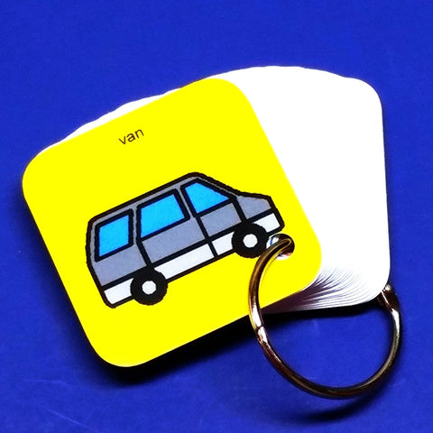 EZ Travel PECS Keyring - Van - Transitional Keyring for Autism and ASD