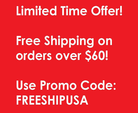 Free Shipping on Orders Over $60 within the USA