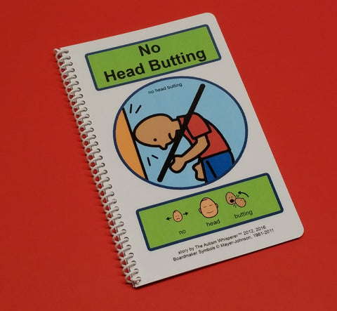 No Head Butting - PECS Autism Social Skills Story - Mood Coping Skills