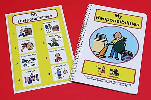 My Responsibilities - PECS Social Story and Picture Schedule Board for Visual Aid Autism