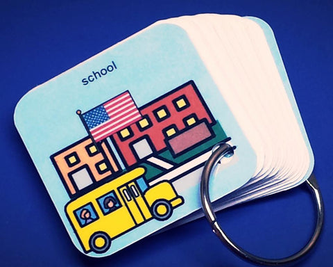 Going to School - Visual Prompter/Schedule Keyring