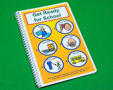 Get Ready For School - Autism Social Story PECS Visual Aid Therapy Book