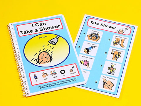 I Can Take a Shower - PECS Grooming Story and Picture Schedule Board Visual Aid Autism - Deodorant Hygiene Social Stories
