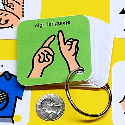 Sign Language Basics Communication Keyring - ASL - Autism