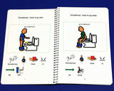 Potty Training Book and Potty Schedules for Boy Standing, Autism PECS Toilet Speech Therapy