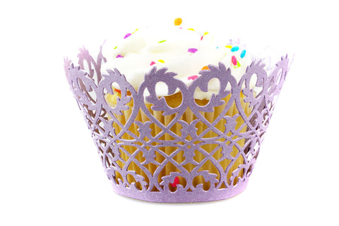 Craft Clouds Purple Filigree Fence Cupcake Wrappers