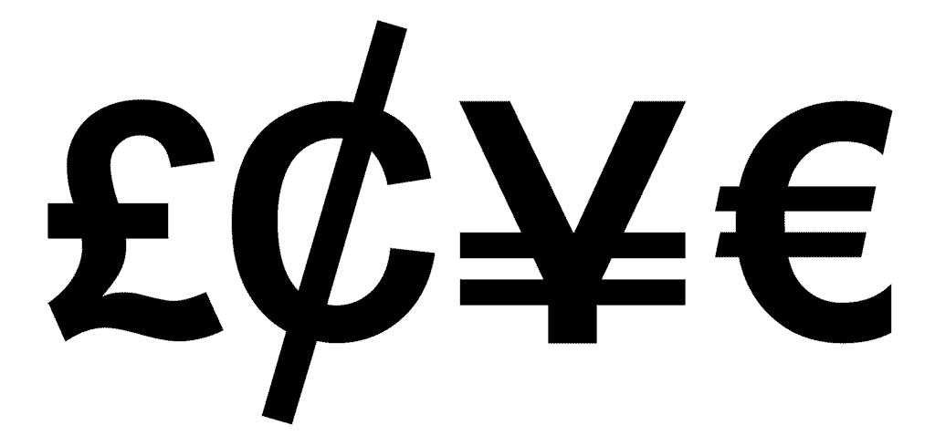 Love in Currency Symbols