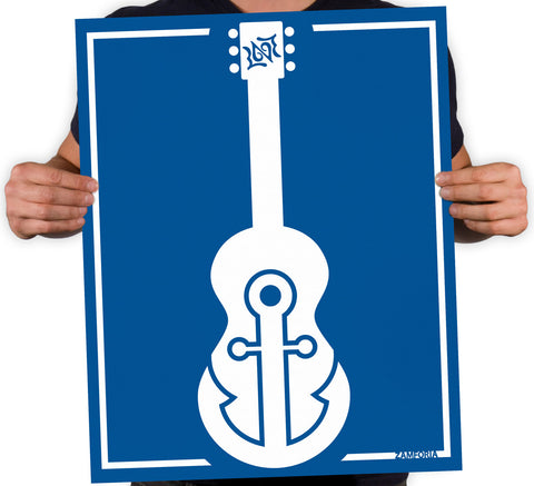 Anchor Guitar Poster 16x20