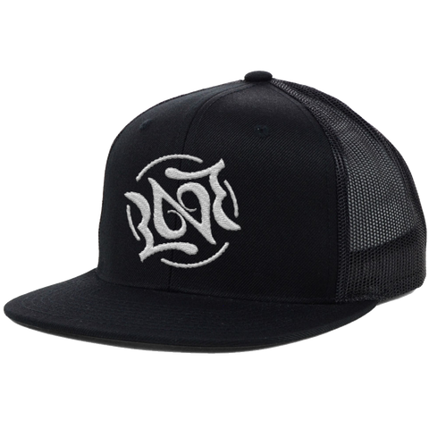 Love Ambigram Trucker, Black