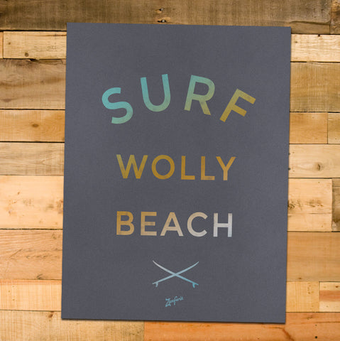 12x16 Surf Wolly Poster, Sand