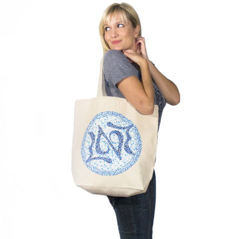 Mosaic Love Logo Tote - Natural