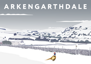 Arkengarthdale Art Print (Snow)