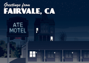 Greetings from Fairvale, California Art Print (Night)