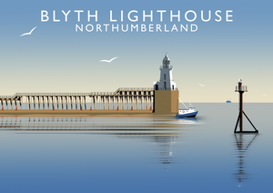 Blyth Lighthouse Art Print