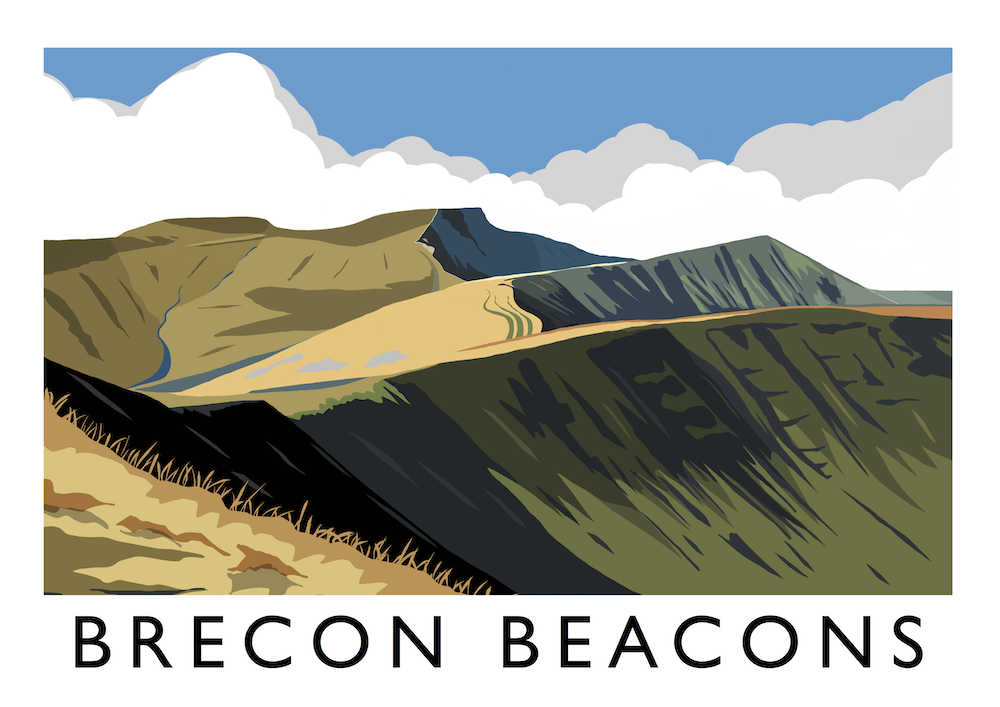 Brecon Beacons Art Print