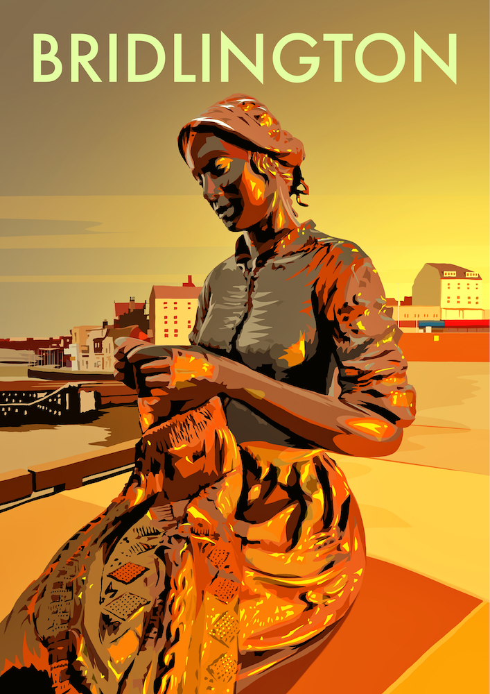 Bridlington (Gansey Girl) Art Print