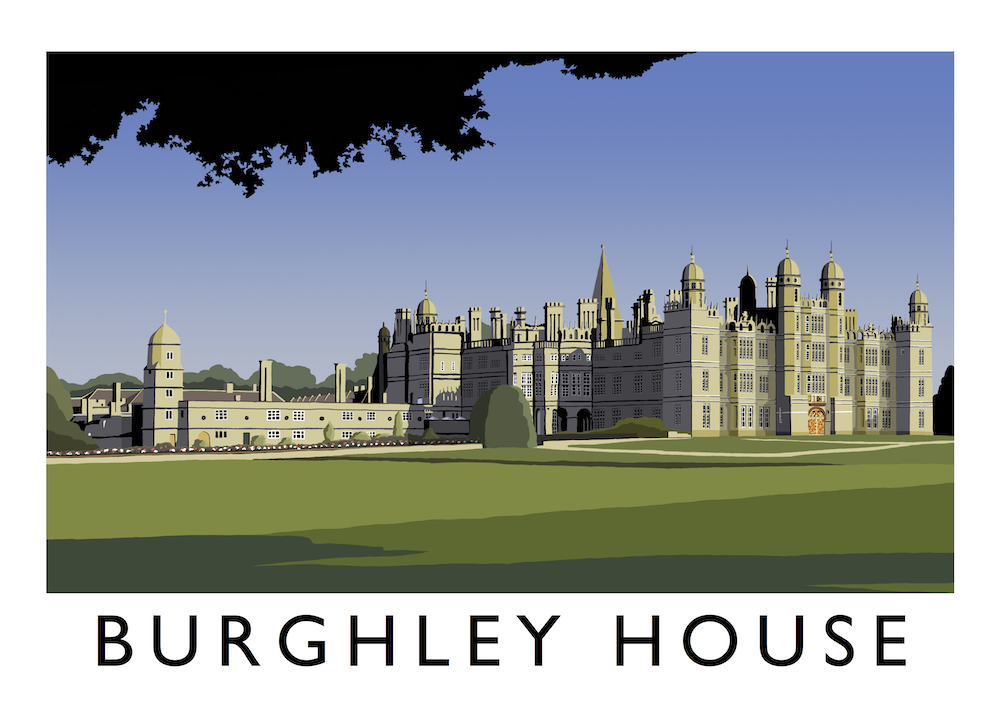Burghley House Art Print