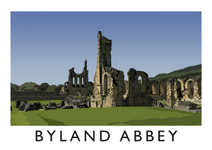 Byland Abbey Art Print