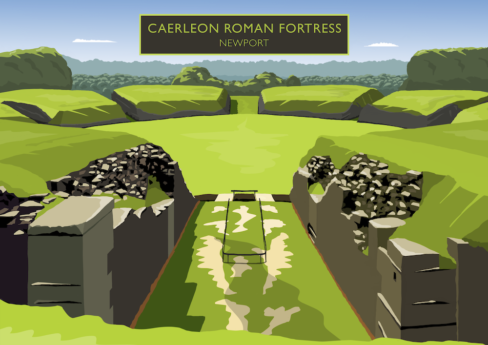 Caerleon Roman Fortress Art Print
