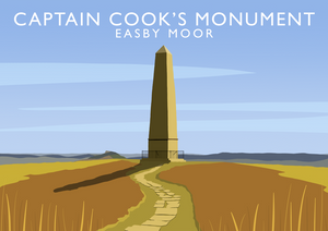 Captain Cook's Monument Art Print
