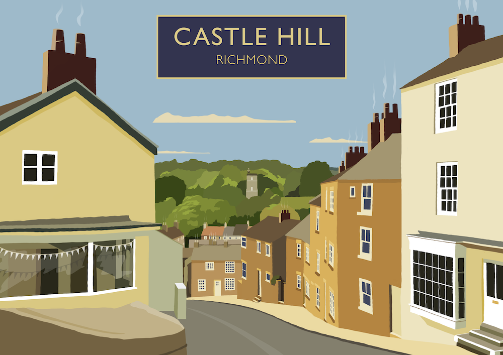 Castle Hill, Richmond Art Print