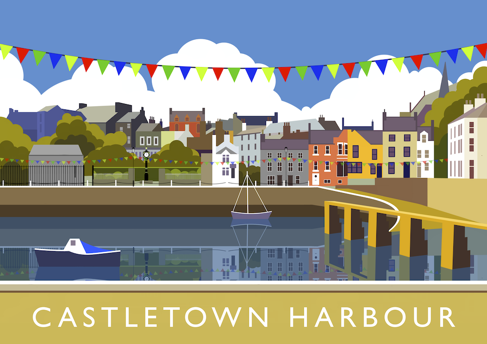 Castletown Harbour Art Print