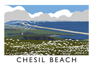 Chesil Beach Art Print