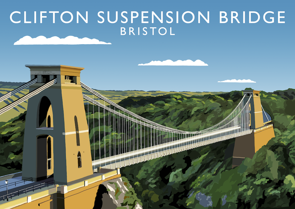 Clifton Suspension Bridge Art Print
