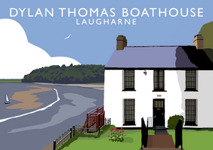 Dylan Thomas Boathouse Art Print