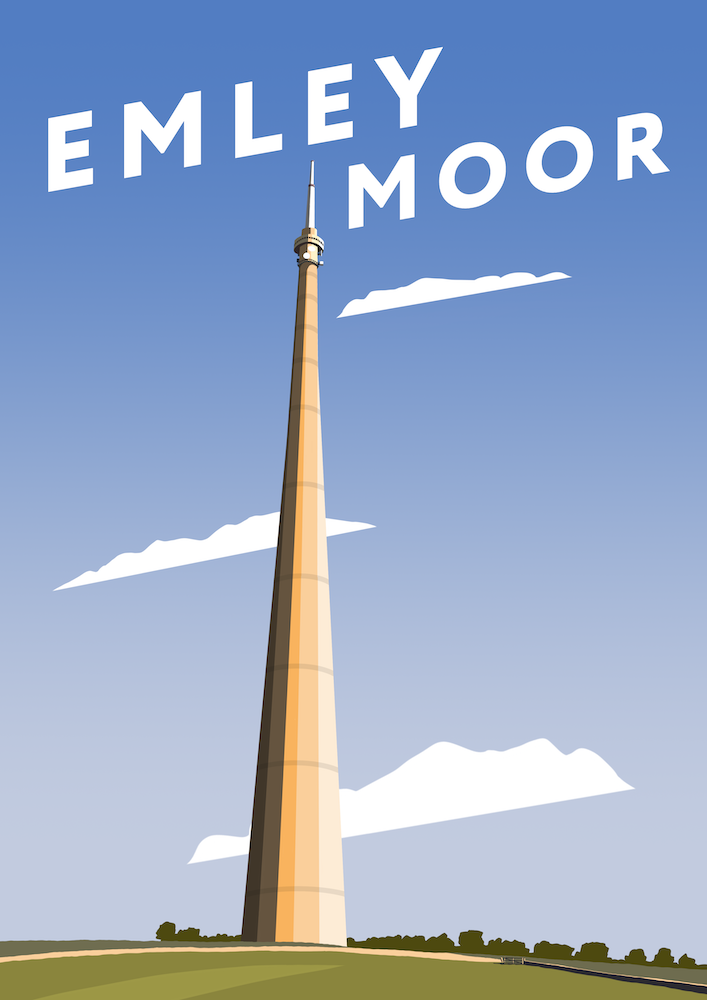Emley Moor Art Print