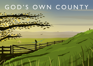 God's Own County Art Print