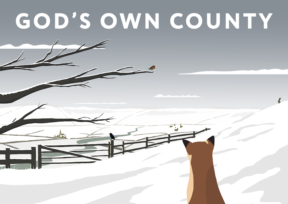 God's Own County Art Print (Snow)
