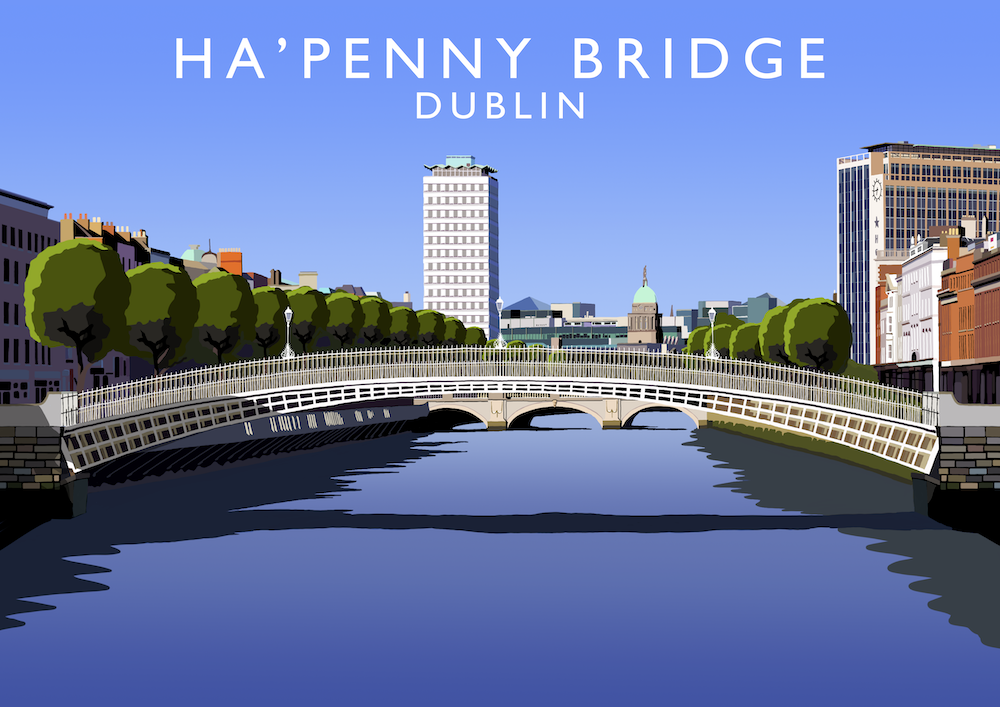 Ha'Penny Bridge, Dublin Art Print