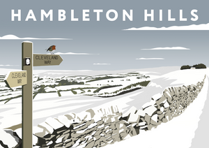 Hambleton Hills Art Print (Snow)
