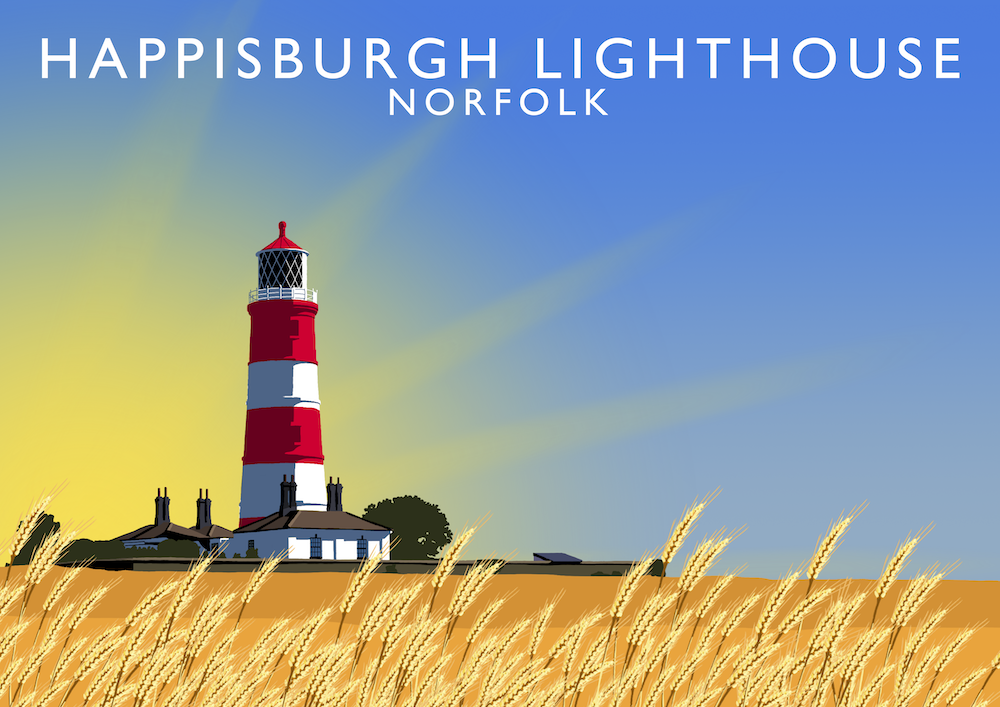 Happisburgh Lighthouse Art Print