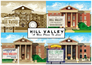 "Hill Valley - ""A Nice Place To Live"" Art Print"