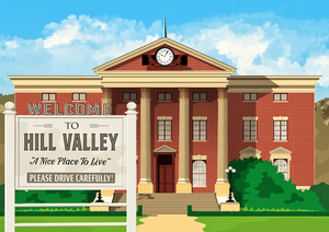 Hill Valley (1955) Art Print